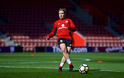 SOUTHAMPTON, ENGLAND - Thursday, April 5, 2018: Wales' Hannah Miles during a training session at St. Mary's Stadium ahead of the FIFA Women's World Cup 2019 Qualifying Round Group 1 match against England. (Pic by David Rawcliffe/Propaganda)