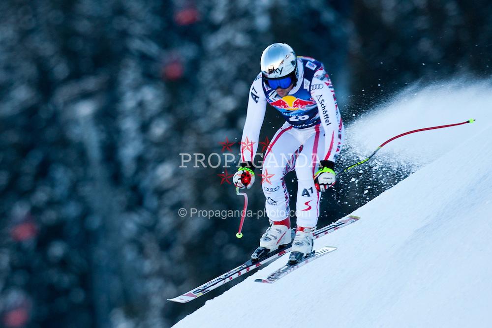 18.01.2012, Hahnenkamm, Kitzbuehel, AUT, FIS Weltcup Ski Alpin, 72. Hahnenkammrennen, Herren, Abfahrt 2. Training, im Bild Mario Scheiber (AUT) // Mario Scheiber of Austria during Downhill 2nd practice of 72th Hahnenkammrace of FIS Ski Alpine World Cup at 'Streif' course in Kitzbuhel, Austria on 2012/01/18. EXPA Pictures © 2012, PhotoCredit: EXPA/ Johann Groder