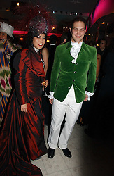 PATTI WONG and LORD FREDERICK WINDSOR at Andy & Patti Wong's annual Chinese New year Party, this year to celebrate the Year of The Pig, held at Madame Tussauds, Marylebone Road, London on 27th January 2007.<br />