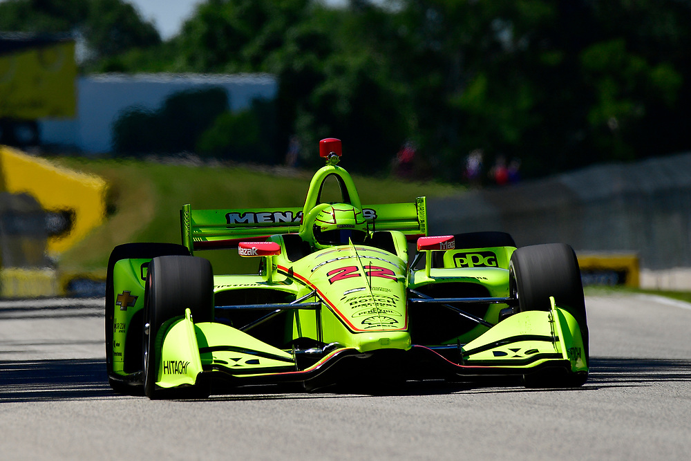 Simon Pagenaud, Team Penske Chevrolet<br /> Saturday 23 June 2018<br /> KOHLER Grand Prix at Road America<br /> Verizon IndyCar Series<br /> Road America WI USA<br /> World Copyright: Scott R LePage