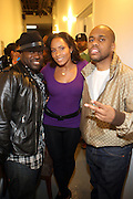 l to r: Black Thought, Daniela, and Consequence backstage at The Hennessey Artistry Concert Series held at Terminal 5 on  October 7, 2009 in New York City