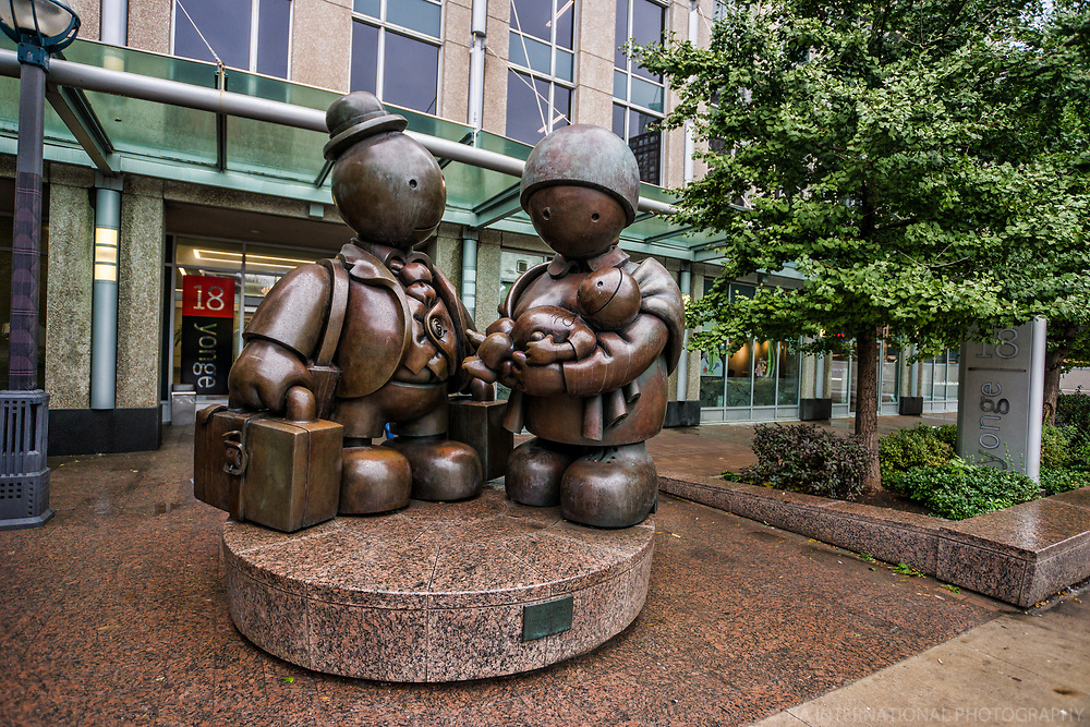"""Immigrant Family"" Sculpture by Tom Otterness, Harbourfront"