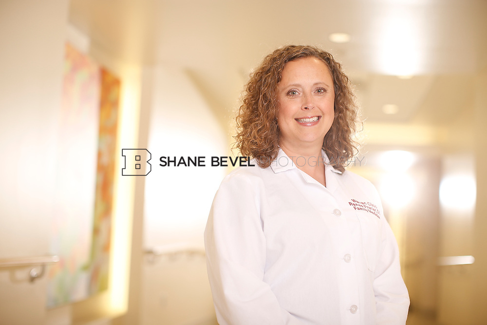 5/28/15 4:11:58 PM -- Dr. Renee Frenier of Saint Francis Health System poses for a portrait for the 2015 Advertising Campaign. <br /> <br /> Photo by Shane Bevel