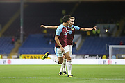4 Jack Cork for Burnley FC celebrates a goal during the Europa League third qualifying round leg 2 of 2 match between Burnley and Istanbul basaksehir at Turf Moor, Burnley, England on 16 August 2018.