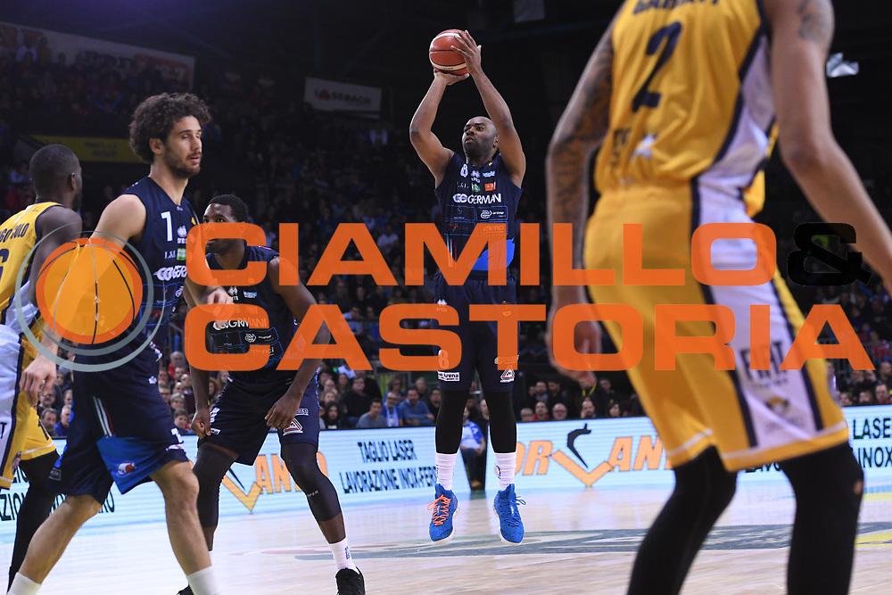 Landry marcus<br /> Fiat Auxillium Torino - Germani Basket Brescia<br /> Postemobile Final 8 2018<br /> Firenze, 18/02/2018<br /> Foto Ciamillo-Castoria