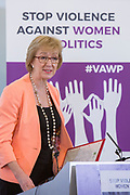 Rt Hon Andrea Leadsom, MP & Leader of the House of Commons, Conservative Party 'Violence Against Women in Politics' Conference, organised by all the UK political parties in partnership with the Westminster Foundation for Democracy, 19th and 20th of March 2018, central London, UK.  (Please credit any image use with: © Andy Aitchison / WFD