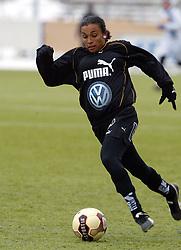 February 28, 2004 - Rebro, SVERIGE - 040228 Fotboll, Dam, …rebro Nordic Cup, TrŠningsmatch: Marta Vieira Da Silva, UmeŒ..© BildbyrŒn - 41313. (Credit Image: © Bj…Rn Tilly/Bildbyran via ZUMA Press)