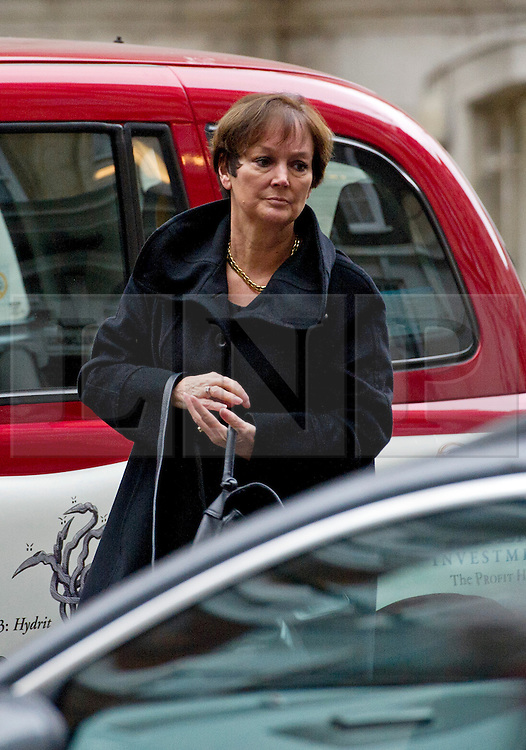 © London News Pictures. 09/02/2013 . London, UK. joanne Denney-Finch, Chief Executive of he Institute of Grocery Distributors arriving at the Department for the Environment, Food and Rural Affairs in London where Secretary of State for Environment, Food and Rural Affairs, OWEN PATERSON is holding a summit to discuss the unfolding scandal over horsemeat being found in various products.. Photo credit : Ben Cawthra/LNP