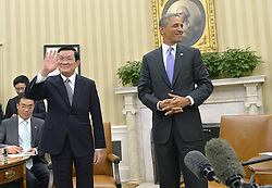 60197533  <br /> U.S. President Barack Obama (1st R) meets with his Vietnamese counterpart Truong Tan Sang (2nd R) in the Oval Office of the White House in Washington D.C., capital of the United State, <br /> Thursday, 25th July 2013<br /> Picture by imago / i-Images<br /> UK ONLY