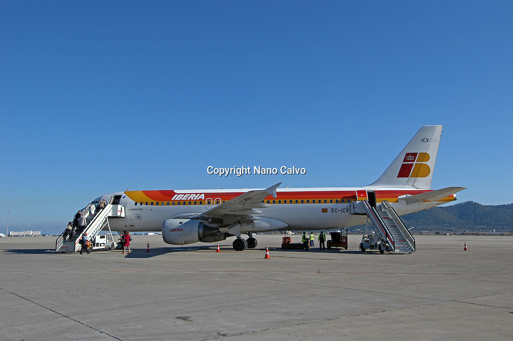 Airbus A320, in the airport of Ibiza, Spain
