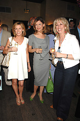 Left to right, ANDREA CATHERWOOD, KATIE DERHAM and CAROLE MALONE at a party to celebrate the publication of Piers Morgan's book 'Don't You Know Who I Am?' held at Paper, 68 Regent Street, London W1 on 18th April 2007.<br />
