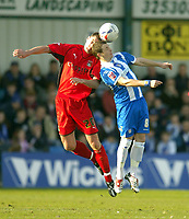 Photo: Olly Greenwood.<br />Colchester United v Coventry City. Coca Cola Championship. 10/03/2007. Colchester's Jamie Cureton and Coventry's Colin Hawkins
