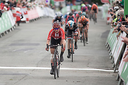 Leah Kirchmann (CAN) of Team Sunweb finishes Stage 5 of 2019 OVO Women's Tour, a 140 km road race from Llandrindod Wells to Builth Wells, United Kingdom on June 14, 2019. Photo by Balint Hamvas/velofocus.com