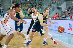 Jaka Blazic of Slovenia during basketball match between Slovenia and Spain in Round #5 of FIBA Basketball World Cup 2019 European Qualifiers, on June 28, 2018 in SRC Stozice, Ljubljana, Slovenia. Photo by Urban Urbanc / Sportida