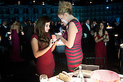 RACHEL SHENTS; BRONAGH WAUGH, Grey Goose Winter Ball to Benefit the Elton John AIDS Foundation. Battersea park. London. 29 October 2011. <br /> <br />  , -DO NOT ARCHIVE-© Copyright Photograph by Dafydd Jones. 248 Clapham Rd. London SW9 0PZ. Tel 0207 820 0771. www.dafjones.com.