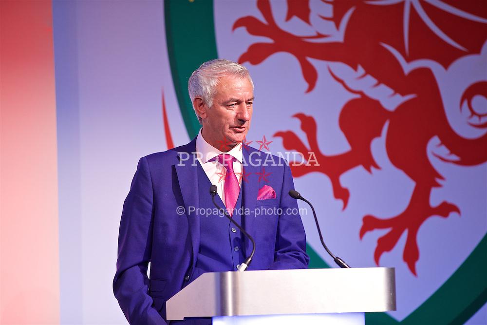 NEWPORT, WALES - Saturday, May 21, 2016: Wales elite performance director Ian Rush at the Under-16's cap presentation at the Celtic Manor Resort. (Pic by David Rawcliffe/Propaganda)