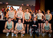Bayswater, London, Cambridge University, pose with Lord Snowdon,  the Snowdon Rowing Challenge, on Friday   05/03/2010  at the Porchester Hall London GREAT BRITAIN.  [Mandatory Credit. Peter Spurrier/Intersport Images]