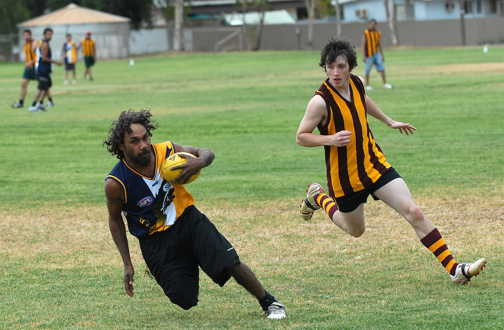 A social football match between Laverton and Leonora. West Australian goldfields, 09 September 06