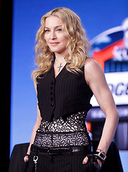 Singer Madonna speaks to the media during a press conference for the Super Bowl XLVI half time show in Indianapolis, Indiana on February 2, 2012.