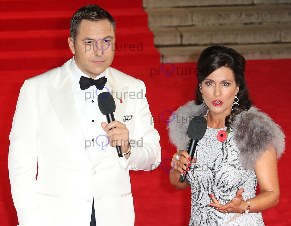 David Walliams, Susanna Reid, Bond: Spectre - World Premiere & Royal Film Performance, Royal Albert Hall, London UK, 26 October 2015, Photo by Richard Goldschmidt