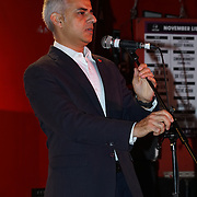 London, England,UK. 4th Nov 2016: Mayor of London Sadiq Khan announce the Mayor reveals Amy Lame as UK first-ever Night Czar at 100 Club,London,UK. Photo by See Li