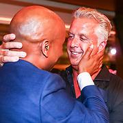 NLD/Amsterdam/20180608 - Laatste uitzending van Late Night met Humberto Tan , Humberto Tan neemt afscheid van Mark Kriek