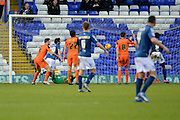Birmingham City midfielder Will Buckley scores the opening goal during the Sky Bet Championship match between Birmingham City and Ipswich Town at St Andrews, Birmingham, England on 23 January 2016. Photo by Alan Franklin.