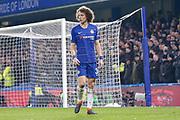 Chelsea defender David Luiz (30) during the EFL Cup semi final second leg match between Chelsea and Tottenham Hotspur at Stamford Bridge, London, England on 24 January 2019.