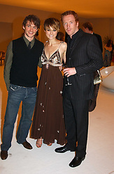 Left to right, HUGH DANCY, KIERA KNIGHTLEY and DAMIAN LEWIS at the Moet & Chandon Fashion Tribute 2005 to Matthew Williamson, held at Old Billingsgate, City of London on 16th February 2005.<br /><br />NON EXCLUSIVE - WORLD RIGHTS