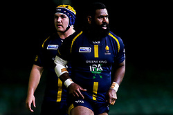 Ropate Rinakama of Worcester Cavaliers and Beck Cutting of Worcester Cavaliers - Mandatory by-line: Robbie Stephenson/JMP - 25/11/2019 - RUGBY - Sixways Stadium - Worcester, England - Worcester Cavaliers v Sale Jets - Premiership Rugby Shield