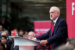 &copy; Licensed to London News Pictures. 16/5/17  BRADFORD  , UK.  <br /> Labour&rsquo;s General Election Manifesto launch 2017.  JEREMY CORBYN , Leader of the Labour Party, launches the party&rsquo;s manifesto at an event in Bradford today (Tuesday 16th May 2017). He was joined by members of the Shadow Cabinet at the launch at University of Bradford, Richmond Building, Richmond Road, Bradford.<br />   <br /> Photo credit: CHRIS BULL/LNP