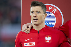 March 21, 2019 - Vienna, Austria - Robert Lewandowski of Poland during the UEFA European Qualifiers 2020 match between Austria and Poland at Ernst Happel Stadium in Vienna, Austria on March 21, 2019  (Credit Image: © Andrew Surma/NurPhoto via ZUMA Press)