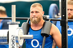 George Kruis of England trains in the gym at Clifton College - Mandatory by-line: Robbie Stephenson/JMP - 15/07/2019 - RUGBY - England - England training session ahead of Rugby World Cup
