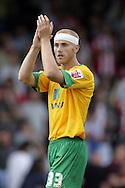 London - Saturday August 15th, 2009: Goalscorer Jens Berthel Askou of Norwich City after the Coca Cola League One match at St James Park, Exeter. (Pic by Mark Chapman/Focus Images)