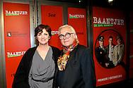 AMSTERDAM - In de DeLaMar theater is de premiere van de musical Baantjer. Met hier op de foto  Martine van Os met haar partner Wouter Tips. FOTO LEVIN DEN BOER - PERSFOTO.NU