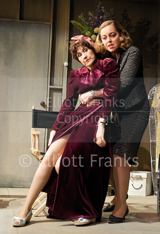 Bette &amp; Joan <br /> directed by Bill Alexander<br /> at The Arts Theatre, London, Great Britain <br /> press photocall<br /> 5th May 2011<br /> <br /> Anita Dobson (as Joan Crawford)<br /> Greta Scacchi (as Bette Davis)<br /> <br /> Photograph by Elliott Franks