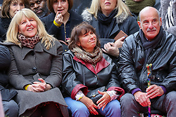 © Licensed to London News Pictures. 04/03/2020. London, UK. JANE WINEHOUSE, JANIS WINEHOUSE and RICHARD (L to R) during the unveiling of AMY WINEHOUSE Stone on Camden Music Walk of Fame outside Camden Town tube station. Photo credit: Dinendra Haria/LNP