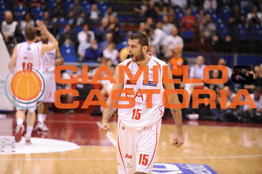 DESCRIZIONE : Milano Lega A 2012-13 Play Off Quarti di Finale Gara2 EA7 Olimpia Armani Milano Montepaschi Siena<br /> GIOCATORE : Ioannis Bourousis<br /> CATEGORIA : esultanza<br /> SQUADRA : EA7 Olimpia Armani Milano Montepaschi Siena<br /> EVENTO : Campionato Lega A 2012-2013 Play Off Quarti di Finale Gara2<br /> GARA : EA7 Olimpia Armani Milano Montepaschi Siena<br /> DATA : 12/05/2013<br /> SPORT : Pallacanestro<br /> AUTORE : Agenzia Ciamillo-Castoria/M.Marchi<br /> Galleria : Lega Basket A 2012-2013<br /> Fotonotizia : Milano Lega A 2012-13 EA7 Olimpia Armani Milano Montepaschi Siena<br /> Predefinita :