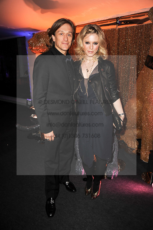 EMILIA FOX and JEREMY GILLEY at a party to celebrate the Mulberry Autumn Winter 2010 collection held at The Orangery, Kensington Palace, London on 21st February 2010.