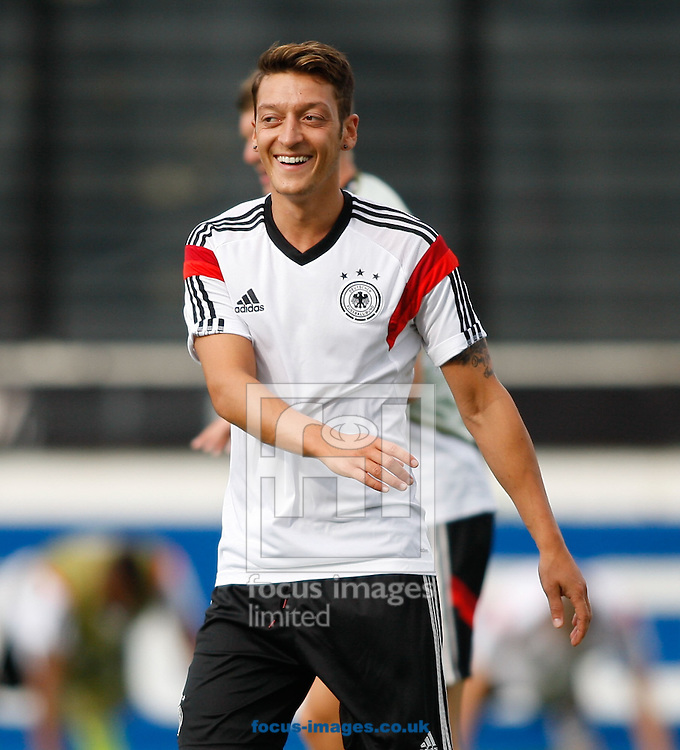 Mesut Ozil of Germany during the Germany training session at the Est&aacute;dio S&atilde;o Janu&aacute;rio, Rio de Janeiro, ahead of tomorrow's World Cup Final. <br /> Picture by Andrew Tobin/Focus Images Ltd +44 7710 761829<br /> 12/07/2014