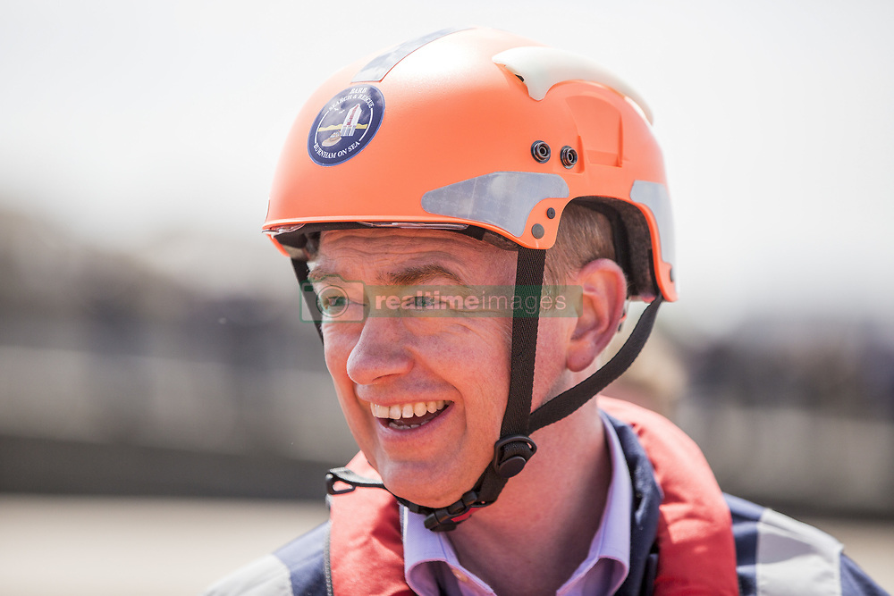 May 9, 2017 - Burnham On Sea, Somerset, UK - Burnham-on-Sea, UK. Lib Dem leader Tim Fallon visits Burnham on Sea, Somerset with and former MP Tessa Munt. Tim and Tessa visit workers at BARB (formed as the Burnham Area Rescue Boat in 1992) which is a volunteer-run registered charity that operates two life-saving rescue hovercrafts and an inshore rescue boat in the Burnham-on-Sea area. 9th May 2017. Pic by Brad Wakefield/LNP (Credit Image: © Brad Wakefield/London News Pictures via ZUMA Wire)