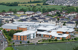 Elevated view of Raploch Community Campus in Raploch district of Stirling , Scotland, UK