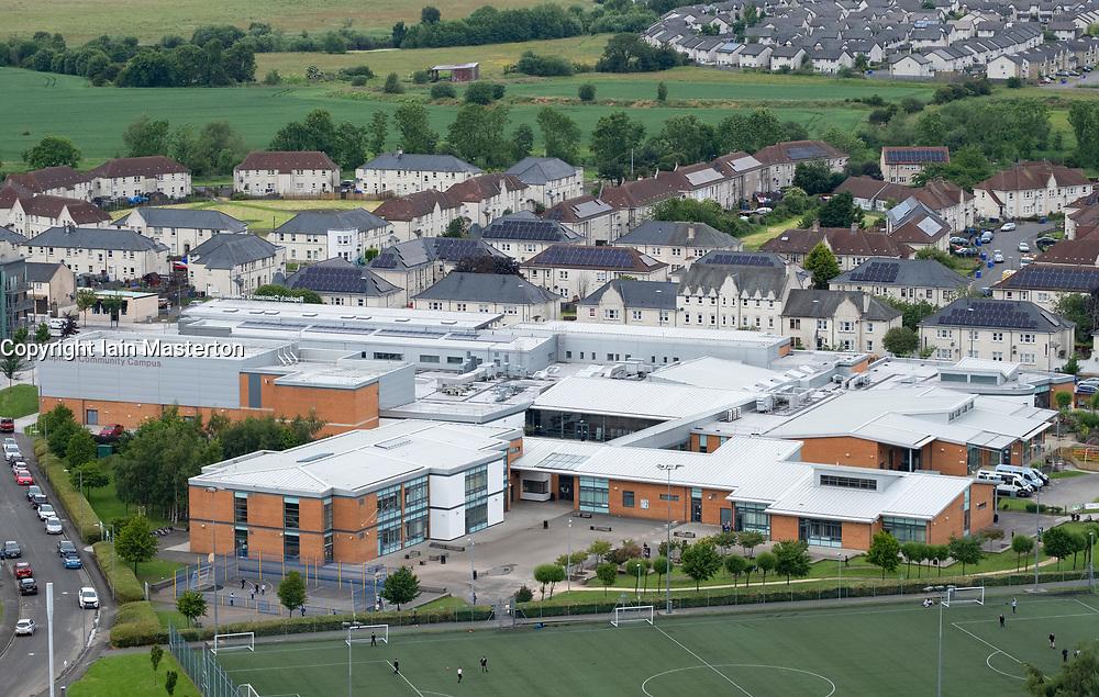 Elevated view of Raploch Community Campus in Raploch district of Stirling , Scotland, UK