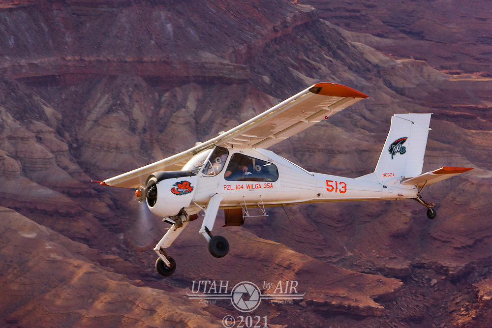 Air to air photography of a Wilga