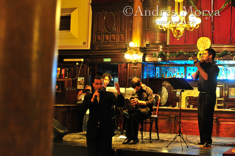 Tango Orchestra in the Milonga La Confiteria Ideal, National Monument, Buenos Aires, Argentina Image by Andres Morya