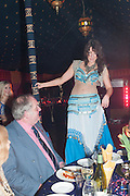 BELLY DANCER ; AYSHE, Alice Manners 18th   birthday. Belvoir Castle, Grantham. 12 April 2013.