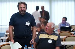 Stane Orazem of NK Domzale and ... of NK Radomlje at  PrvaLiga draw before new football season 2011/2012 in Slovenia, on June 23, 2011, in Hotel Kokra, Brdo pri Kranju, Slovenia. (Photo by Vid Ponikvar / Sportida)
