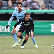 NEW YORK, NEW YORK - April 12: Shea Salinas #6 of San Jose Earthquakes in action during the New York City FC Vs San Jose Earthquakes regular season MLS game at Yankee Stadium on April 1, 2017 in New York City. (Photo by Tim Clayton/Corbis via Getty Images)