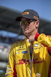 May 25, 2018 - Indianapolis, Indiana, United States of America - RYAN HUNTER-REAY (28) of the United States gets suited up to take to the track to practice for the Indianapolis 500 at the Indianapolis Motor Speedway in Indianapolis, Indiana. (Credit Image: © Justin R. Noe Asp Inc/ASP via ZUMA Wire)