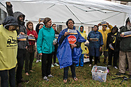Sharon Lavigne at a protest in front of the Louisiana Department of Environmental Quality on December 10, 2019. There, members of Rise St. James, the Louisiana Bucket Bridge, and the Center for Biological Diversity called on the state regulator to deny Formosa the air permits it granted this week.